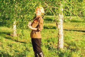 Певица Алина Делисс поздравила страну с Днем Победы